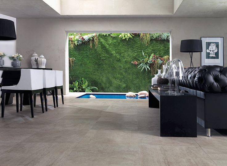 Porcelanosa Rodano Taupe | Raw Concrete Look Tile | Available at Ceramo