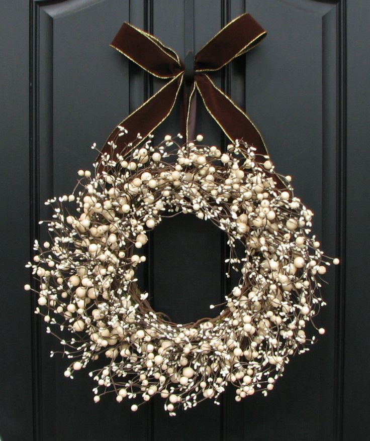 Unique color & design for winter wreath.