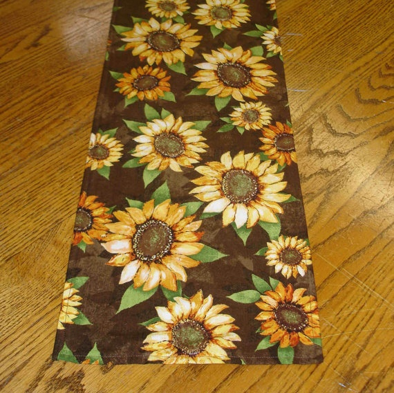 Charming Table Runner With Sunflowers By Handmadebysam On Etsy, $12.00