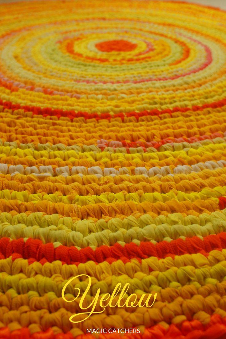 handmade yellow rug.