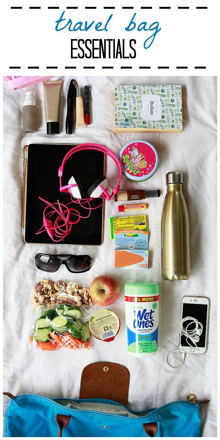 Travel Bag Essentials. What to pack in a carry on bag for easy family travel. Sponsored by Wet Ones.