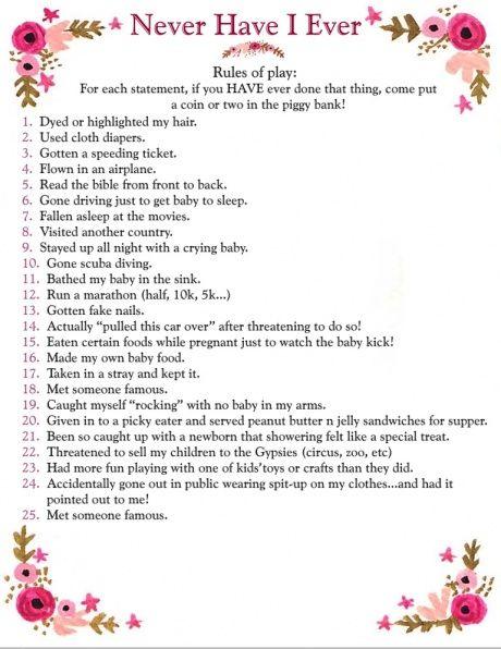 Interesting Baby Shower Game.
