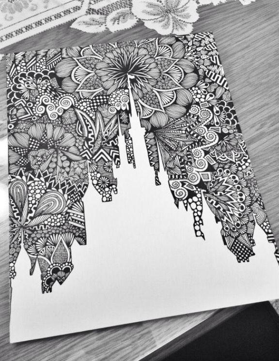 Disney Cinderella Castle Zentangle