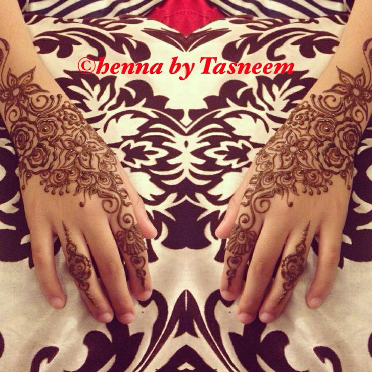Floral henna designs