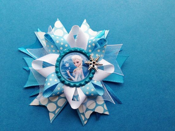 Elsa Frozen Hair Bow  Anna Elsa Olaf Bow  Hair by YayaAccessories, $6.25