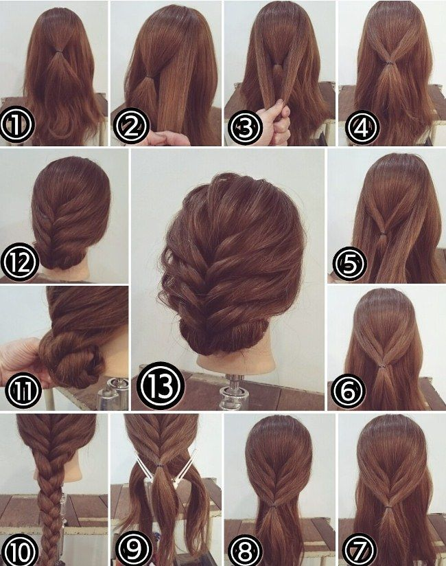 Cute simple upddos for long hair how to do it in 2019 #dresses #mitte …