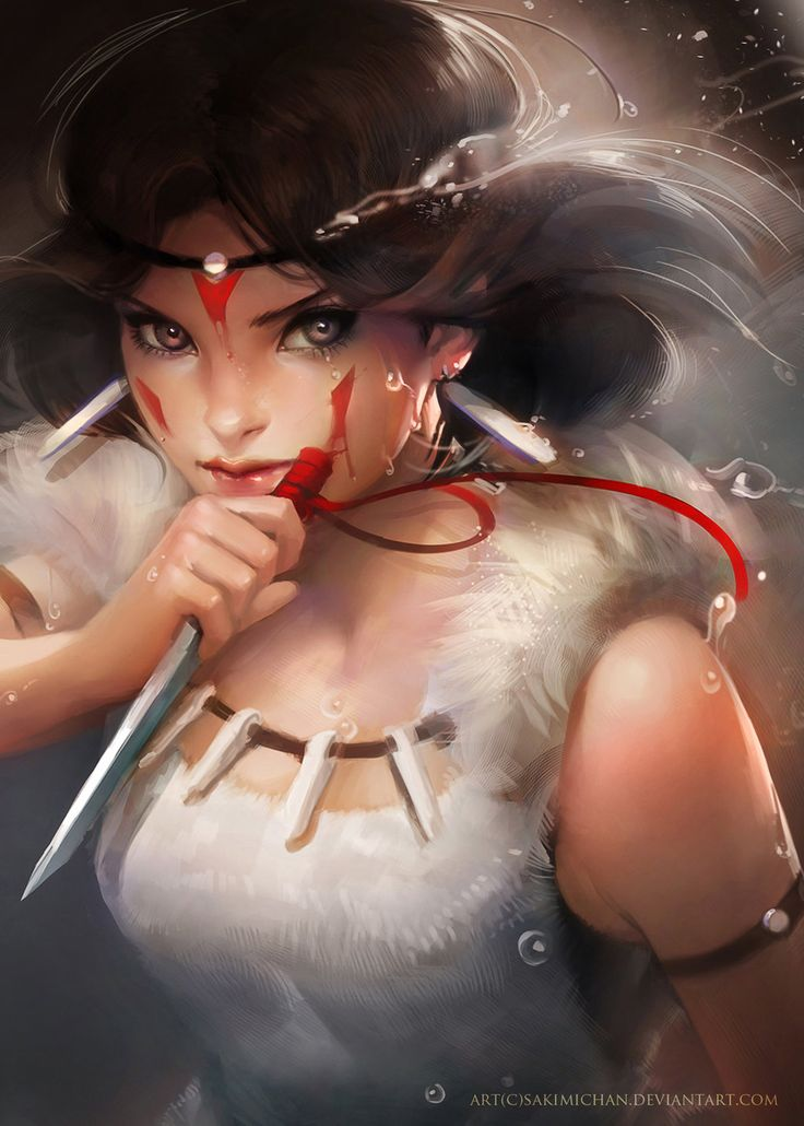 Princess Mononoke by *sakimichan | Found on Daily Inspiration's Wall of Fame
