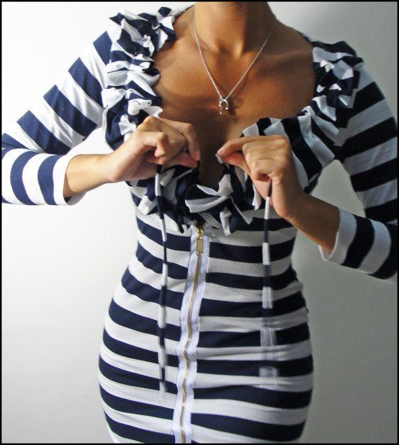 Venni Caprice Nautical Zip up Dress - Super cute!