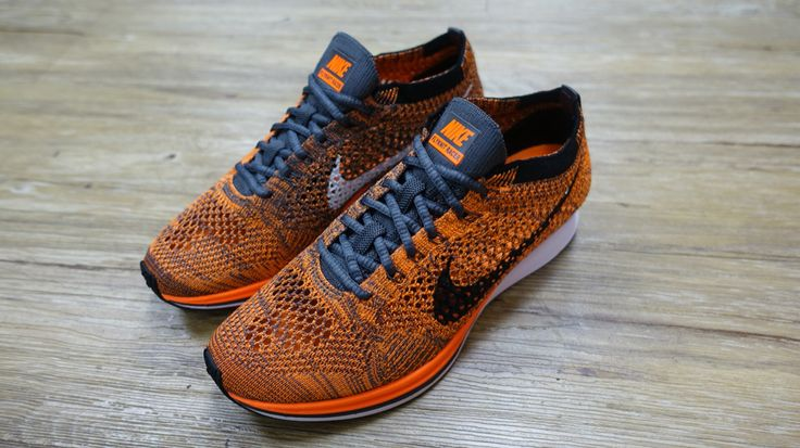 30f7f0612d3bc Nike Flyknit Racer Total Orange Mens Running Racing Trainers Sneakers  526628 -810