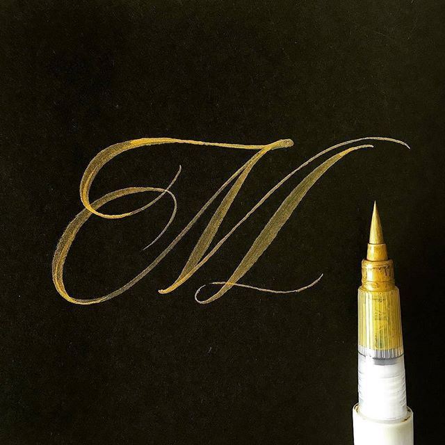 Beautiful 'M' by @kennycoil   #typegang if you would like to be featured   typegang.com