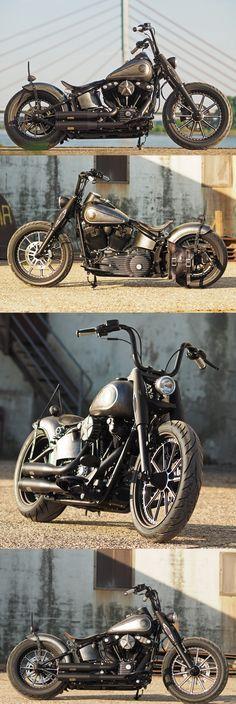 Customized #Harley-Davidson #Softail Slim by #Thunderbike