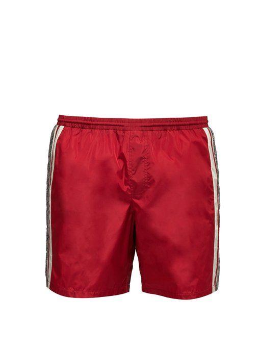 4f820fcc7f GUCCI GG Supreme logo swim shorts. #gucci #cloth Supreme Logo, Gucci Fashion
