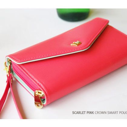 Scarlet Pink DonBook. 100% Authentic. Fits many different brands of smart phone including samsung galaxy, iphone, HTC. Shop now at www.redlipbunny.com! #wallets #DonBook #wristlets #gold # accessory #cute #handbags #purse #genuine #korean #trending #smartphone #iphone #case