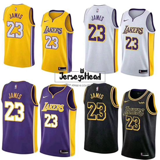 pretty nice f0a41 2d8bb 2019 Los Angeles Lakers LeBron James Basketball Jerseys City ...