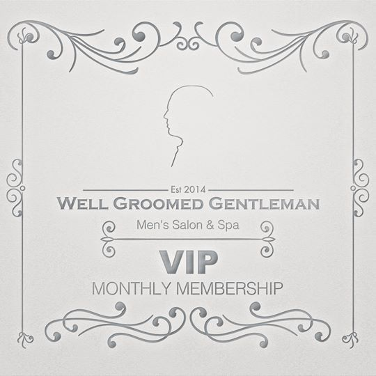 🔴MEMBERSHIP INCLUDES🔴 With The Well Groomed Gentleman Premier Membership package you have your choice of one premier service a month from the following selection: 1-Hour facial 1-Hour massage WGG Haircut & Gentleman's Shave Manicure & Pedicure combo with Paraffin Waxing: Back, shoulders, and upper arms The Modern Gentleman Deluxe shave As well as 20% off ALL additional services and products while membership is valid. Only $60* A Month (Billed monthly or quarterly)