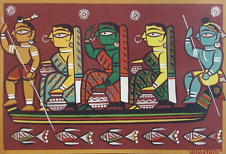 Jamini Roy painting
