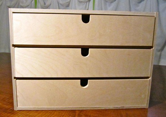 Childrens Animals Storage Box Chest 3 Kids Drawer Bedroom: IKEA Moppe 3 Drawer Small Storage Box Wood