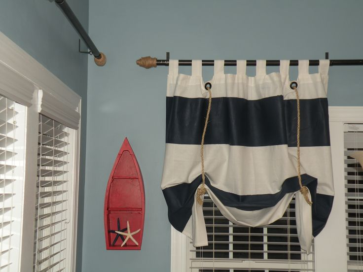 DIY Bold Stripe Curtains and DIY Curtain Rods using conduit, L ...