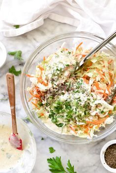 How to Make the Best Creamy Coleslaw http://foodiecrush.com
