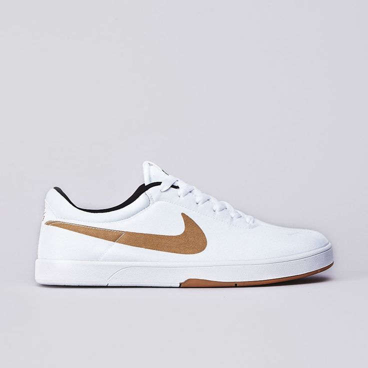 Flatspot - Nike Sb Eric Koston SE White / Metallic Gold - Black #skateboarding #shoe