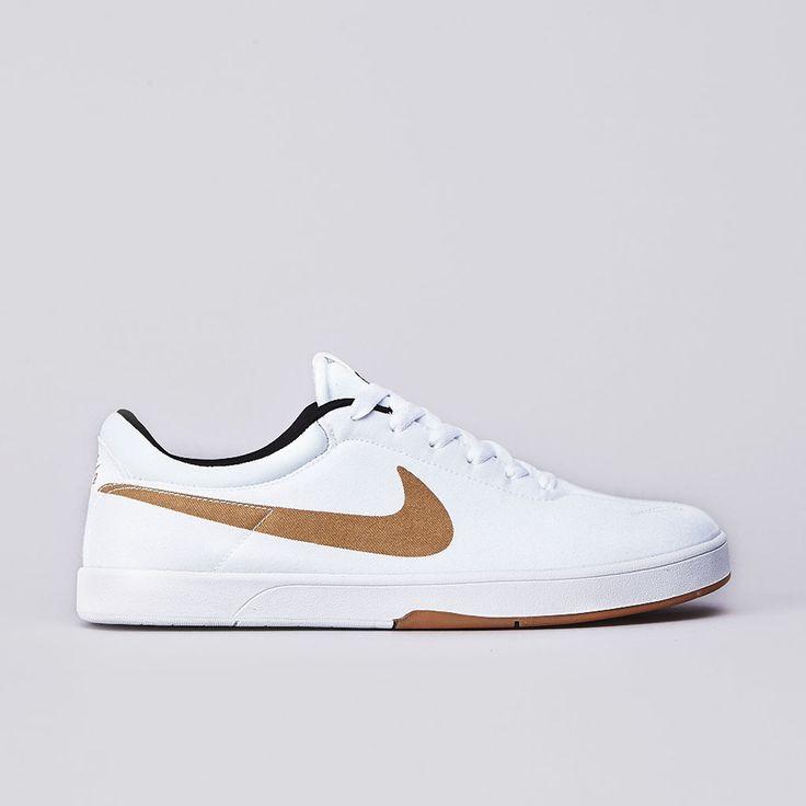 Flatspot - Nike Sb Eric Koston SE White / Metallic Gold - Black #skateboarding #shoe