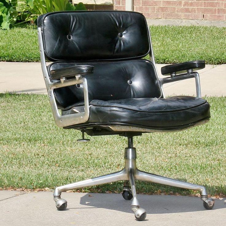 Vintage Mid Century Charles U0026 Ray Eames Black Time Life Chair By Herman  Miller
