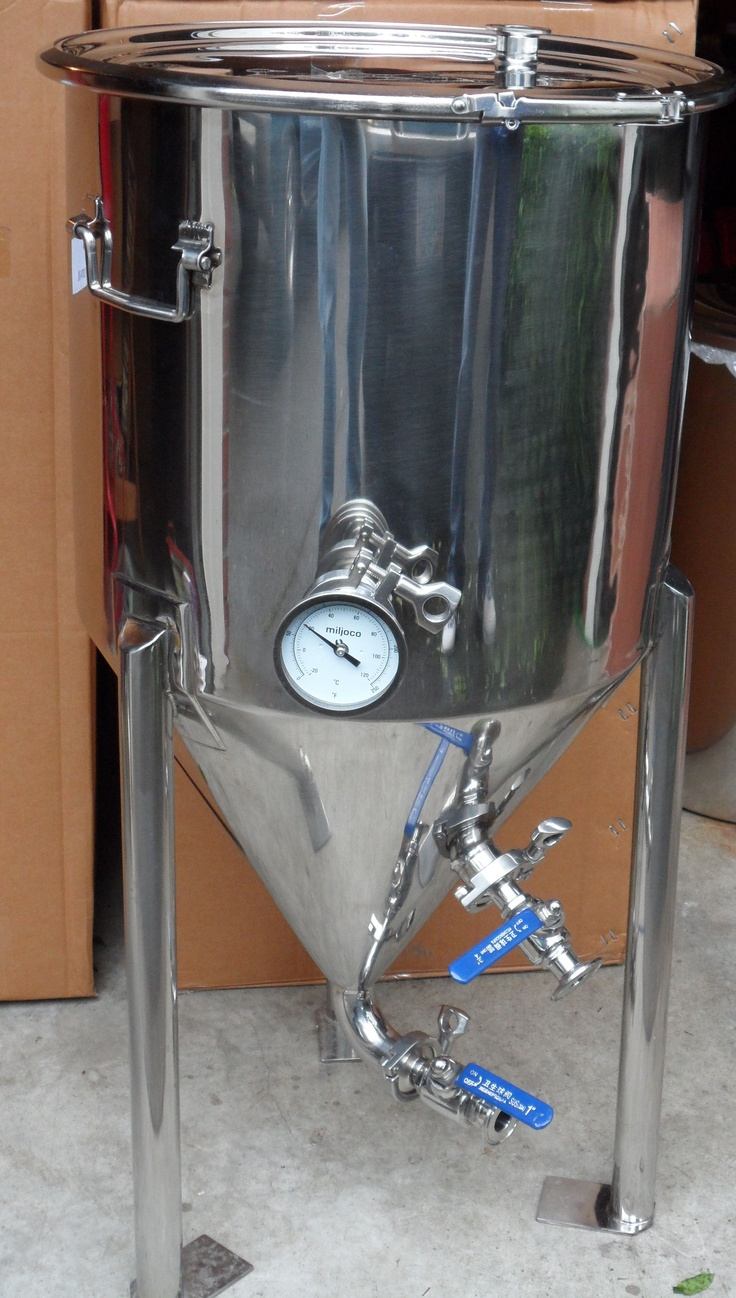 Conical Fermenter for home brewing. I need one of these. Next purchase on the home brew supplies list.