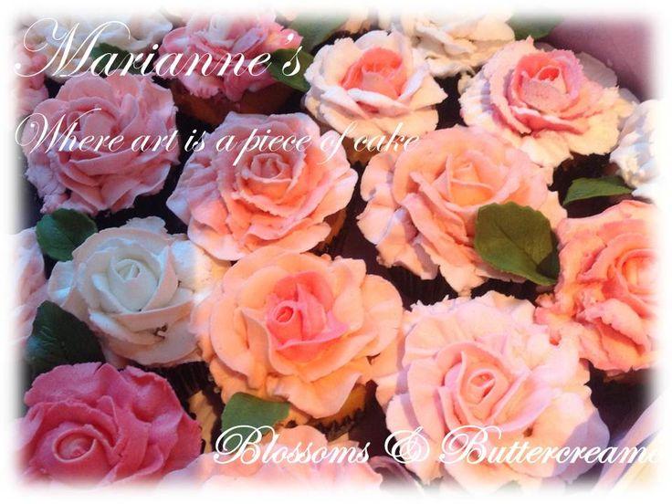 Buttercream Roses, beautiful and yummy!