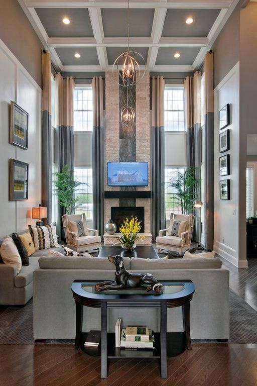 Henley Estates At Bamm Hollow By Toll Brothers Zillow High Ceiling Living Room Elegant Living Room Luxury Living Room