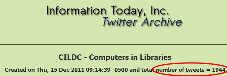 Almost 2000 #CILDC tweets before lunch on the first day.