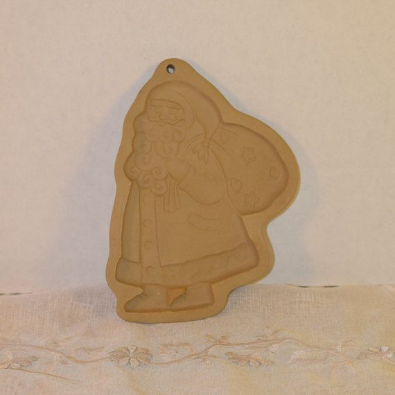 Brown Bag Cookie Art Santa Claus Stamp by ShellysSelectSalvage