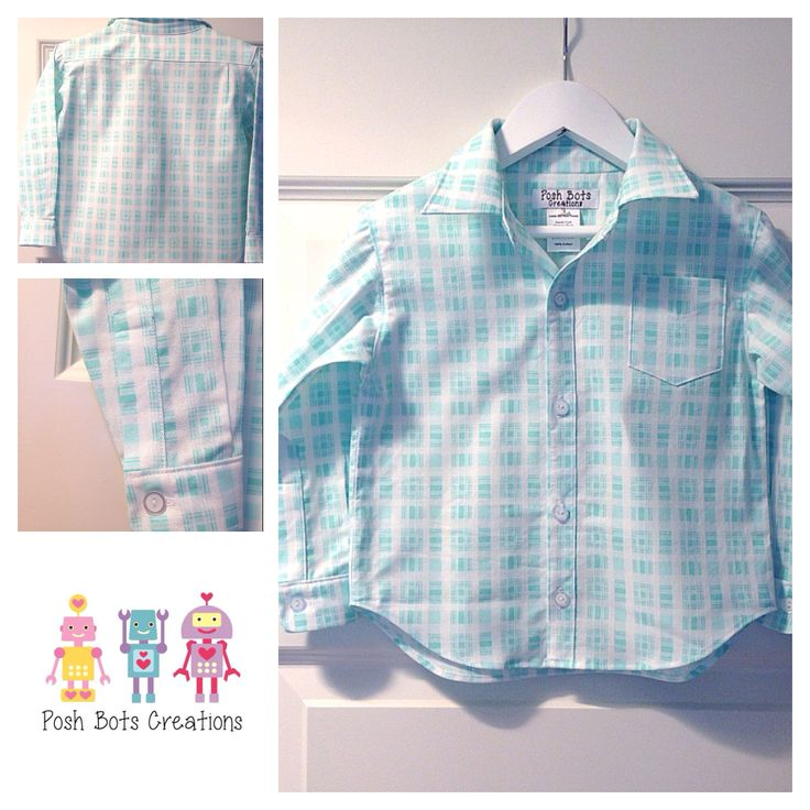 Little boys button up shirt Anytime is a good time to wear a nice shirt :)  #boysshirt #handmade #tanyawhelan #boysclothes #babyclothes