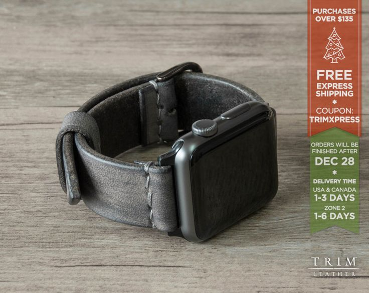 Apple Watch Band Leather Watch Band Minimal in Concrete Stone Grey 42mm 38mm Series 1 and 2 [Handmade] [Custom Colors] by TRIMleather on Etsy https://www.etsy.com/listing/472397369/apple-watch-band-leather-watch-band