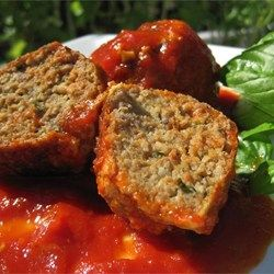 The Best Meatballs - Allrecipes.com Use drained package of chopped spinach in place of parsley. Bake 325 for 10 min instead of frying