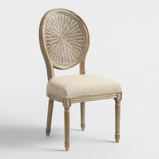 Natural Cane Paige Round Back Dining Chairs Set Of 2 By World