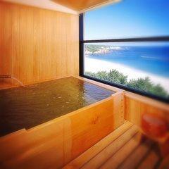 桧風呂露天風呂付客室