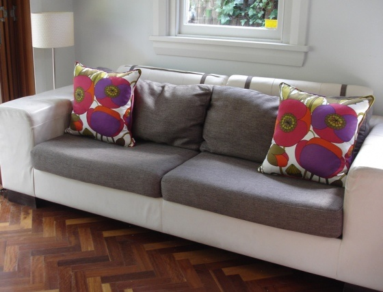 A beautifully sunny and airy house in a cosy North Sydney street is brightened with Fabulous Vintage cushions.