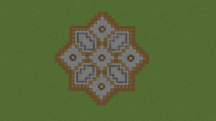 A Floor Design For A Plaza Minecraft Floor Designs Minecraft Creations Easy Minecraft Houses