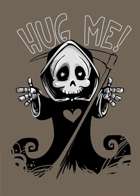 Cute death mascot designed as the most popular skeletal figure - the grim reaper. We did our best to make this vector character more friendlier and funny and th