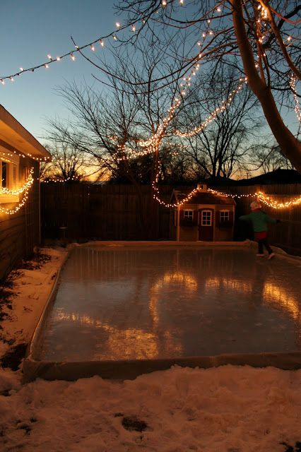 Ice skating rink-backyard