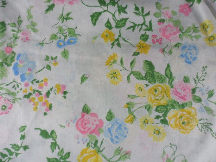 vintage lady pepperell no iron percale queen flat sheet white shabby roses