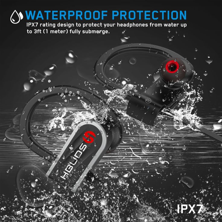 COMFORTABLE AND SECURE FIT WITH IPX-7 WATERPROOF RATING – ActivBuds feature Ergonomically designed flexible ear hooks with gel flex silicone earbuds to ensure your headphones stay comfortably firm in place to guarantee fatigue-free ears and tangle free comfort. http://hbudssport.com