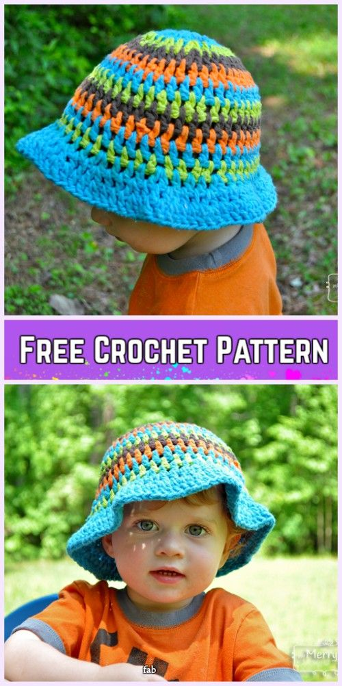 Crochet Little Girls Sun Hat Free Patterns - Crochet Summer Sun Hat Free Pattern