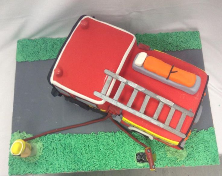 New Zealand Fire Service Silverdale Appliance ~ Fire Engine Cake decorated by Coast Cakes Ltd