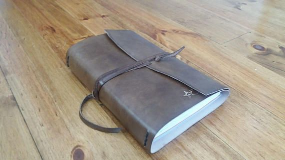 Check out this item in my Etsy shop https://www.etsy.com/listing/542377128/dark-brown-leather-wrap-around-journal