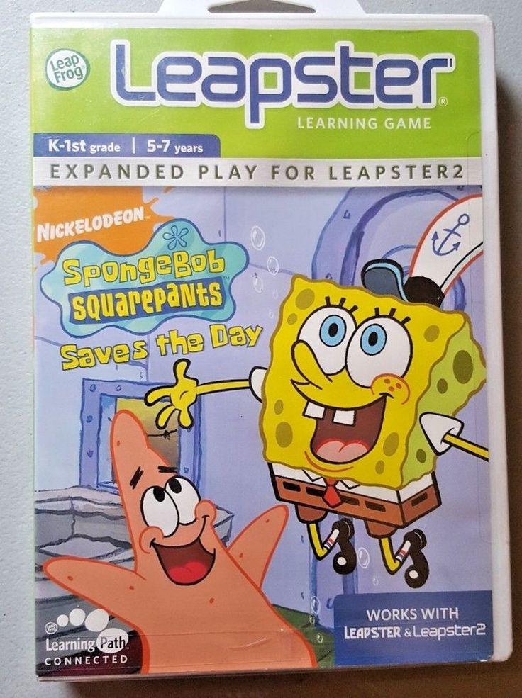 Leapster Learning Game SpongeBob SquarePants Saves the Day 5-7 k-1st Leap Frog #LeapFrog