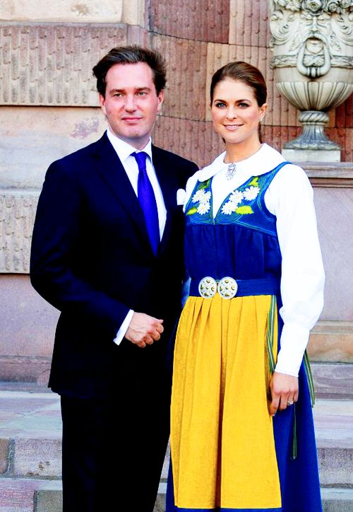 anythingandeverythingroyals:  Chris O'Neil and Princess Madeleine of Sweden, Swedish National Day, 2013