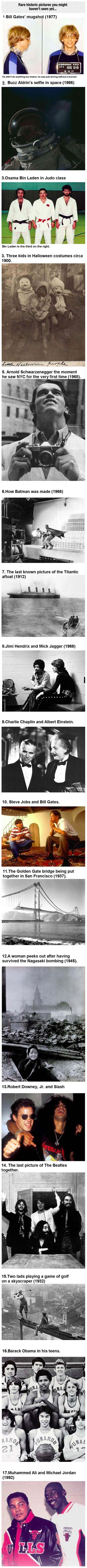 "Some rare historical photographs...bill gates looking like he is ""baaad"" now.  He is now anti-establishment man!   Lol"