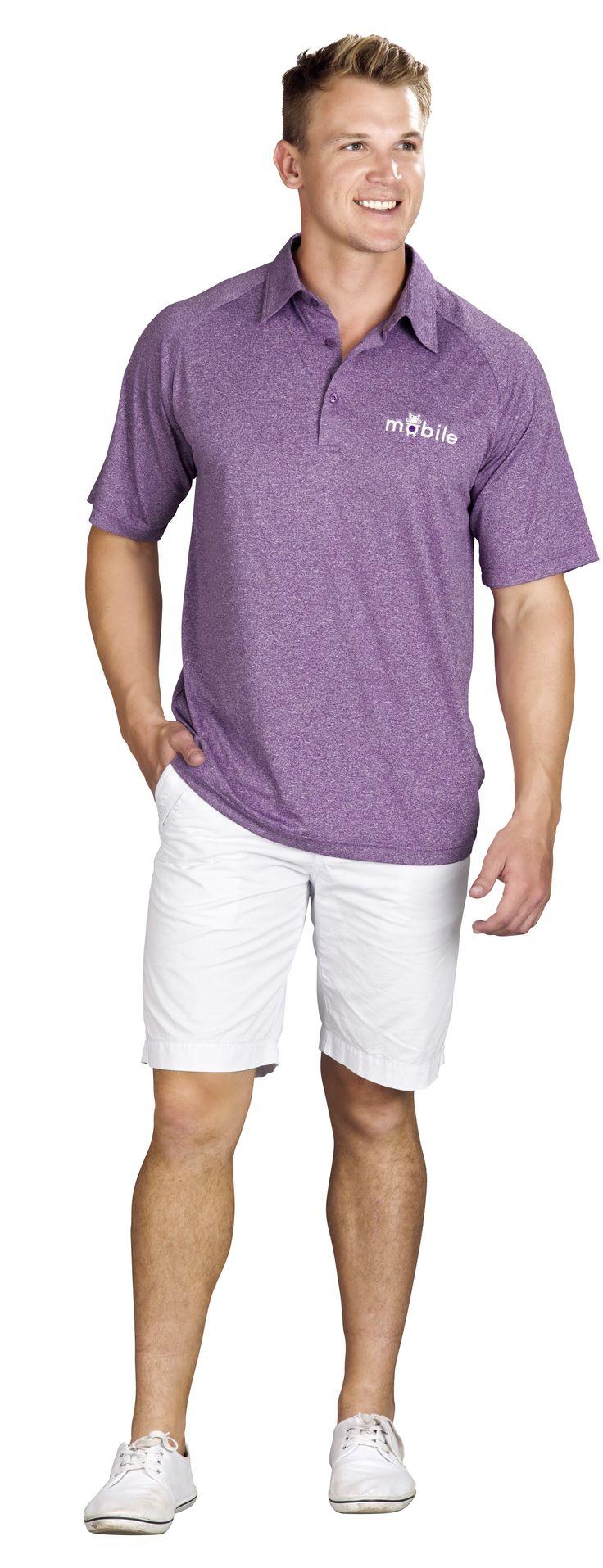 Triumph Mens Golf Shirt Fashion Polo Shirt Melange SLAZ-5835