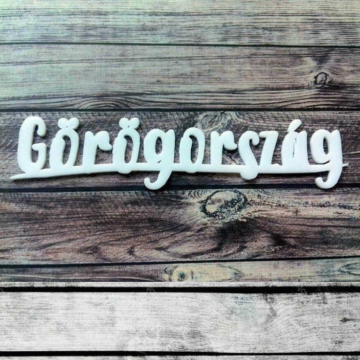 NőiCsizma | Görögország- akril címfelirat